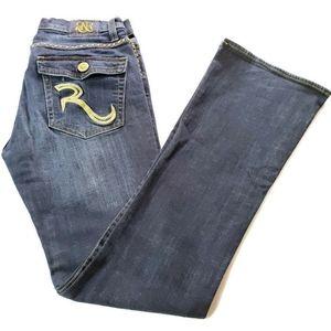 Rock & Republic Studded Bootcut Ladies Blue Jeans